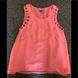 Neon tank; SEE THE BACK!